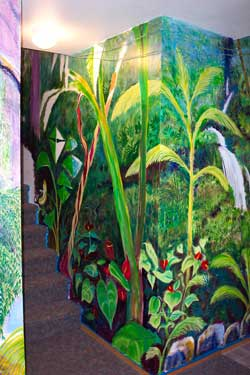Part of the complete Jungle mural