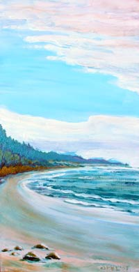 © Pam Van Londen 2007 Beverly Beach 2 acrylic on canvas on 12 x 24 x 1 canvas