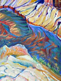 © Pam Van Londen 2007 Grand Canyon 1 acrylic on gallery-edged canvas on 18 x 24 x 1.5 canvas