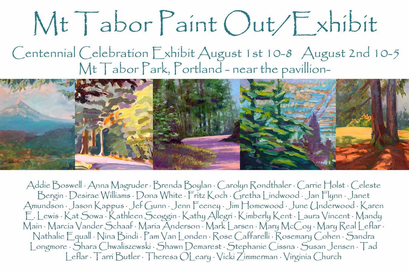 postcard for Mt Tabor Paint Out