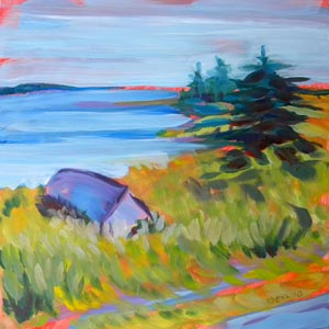 © Pam Van Londen 2010,  Prince Edward Island 1, oil on claybord,  8x8