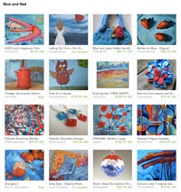 Blue and Red Etsy Treasury