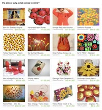 It's almost July; what is on your mind Etsy Treasury