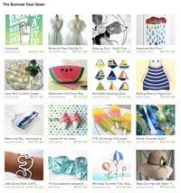 The summer cool down Etsy treasury