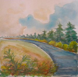© Pam Van Londen 2010, Willamette River 21, watercolor, 12x12
