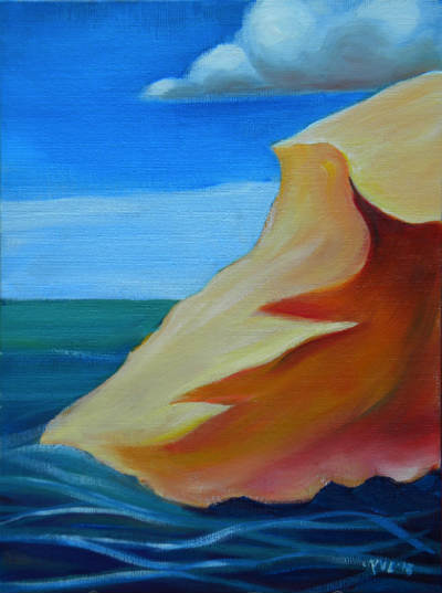 © Oregon Dunes 5. Pam Van Londen 2013. Oil on 9x12-inch canvas panel. Unframed.