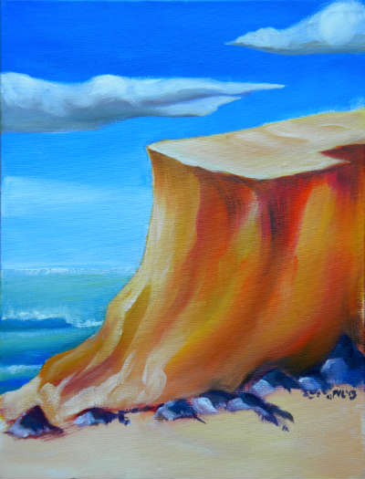 © Oregon Dunes 6. Pam Van Londen 2013. Oil on 9x12-inch canvas panel. Unframed.