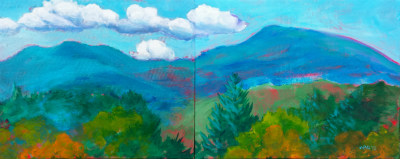 Mary's Peak 11 Diptych Commissioned
