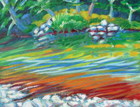 © Pam Van Londen 2007 Mary's River 2 oil on canvasboard on 16 x 12 x 1 canvas