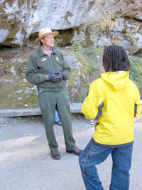 David Thompson was an excellent guide at Oregon Caves!