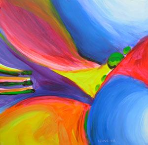 © Pam Van Londen 2010,  Pumpkin Panel 1, oil on clayboard,  8x8
