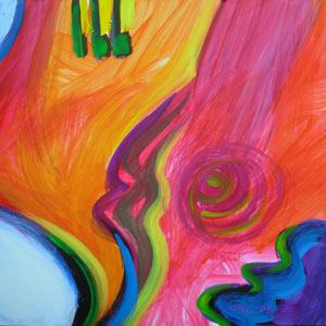 © Pam Van Londen 2010,  Pumpkin Panel 2, oil on clayboard,  8x8
