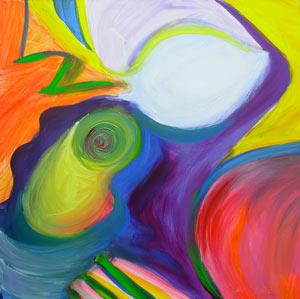 © Pam Van Londen 2010,  Pumpkin Panel 3, oil on clayboard,  8x8
