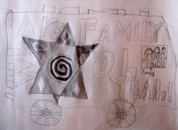 We are family in the RV drawing by Maya Van Londen