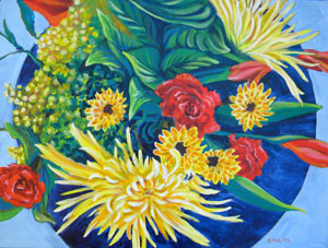 © Pam Van Londen 2009, Kim's Bouquet 1, 24x18x1.5 on acrylic on gallery edged canvas