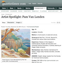 Gazette-Times Artist Spotlight for the week is Pam Van Londen
