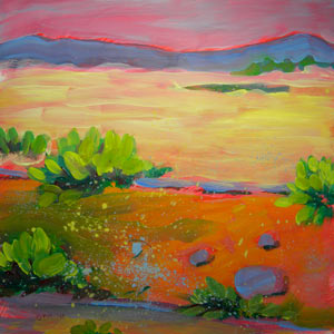 © Pam Van Londen 2010, Canyon Dreams 8, oil on clayboard, 8x8