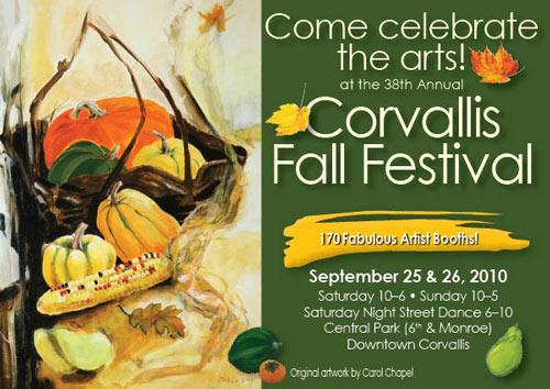 Corvallis Fall Festival is Sept 25, 26, 2010