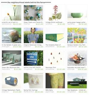 Etsy Treasury listing Pam Van Londen's painting