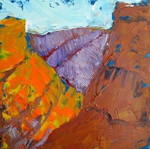© Pam Van Londen 2010,  KahNeeTa 1, oil on claybord,  8x8