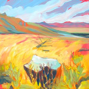 © Pam Van Londen 2010,  KahNeeTa 2, oil on claybord,  8x8
