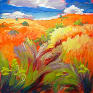 © Pam Van Londen 2010,  KahNeeTa 3, oil on claybord,  8x8