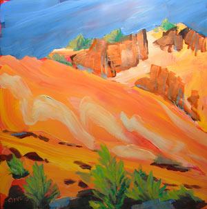 © Pam Van Londen 2010,  KahNeeTa 5, oil on claybord,  8x8