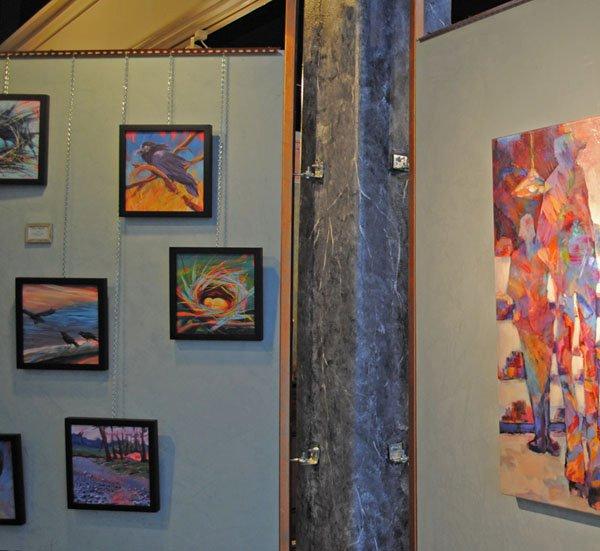 Pam Van Londen's original paintings hang at the Timeless Talisman Gallery.