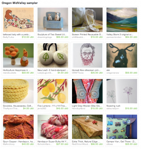 Gallery of Oregon arts and crafts at Etsy