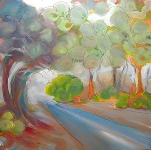 © Pam Van Londen 2010,  Valley Fog 1, oil on claybord,  8x8