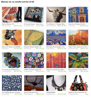 Mexico, so colorful and full of life Etsy Treasury