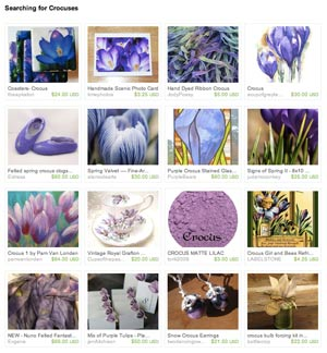 Searching for Crocus Etsy Treasury
