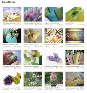 Signs of Spring Etsy Treasury