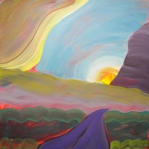 © Pam Van Londen 2010, Valley Storm 4, oil on clayboard, 8x8