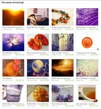 Etsy Colors of MorningTreasury