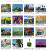 Etsy Drab Rainy Days make me crave color Treasury