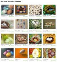 Etsy Don't put all your Eggs in one Basket Treasury