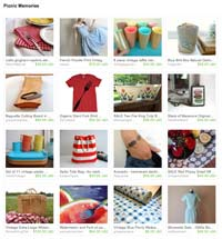 Etsy Picnic Memories Treasury