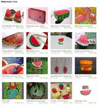 Etsy Watermelon Yum Treasury