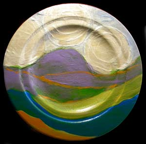 © Pam Van Londen 2010, Round Valley 2, acrylic mixd media, 12x12