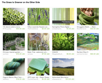 Etsy Grass is Always Greener Treasury