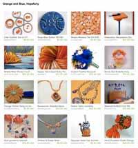 Etsy Orange and Blue-- Hopefully Treasury