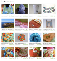 Etsy Spring Turns to Summer Treasury