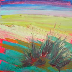 © Pam Van Londen 2010, Estuary 3, oil on claybord, 8x8