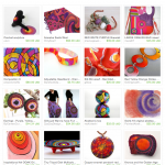 Purple Red Orange Etsy Treasury with art by Pam Van Londen