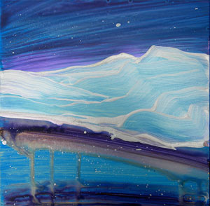 © Pam Van Londen 2010, Arctic 1, Acrylic on Clayboard, 8x8
