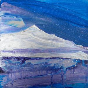 © Pam Van Londen 2010, Arctic 2, Acrylic on Clayboard, 8x8