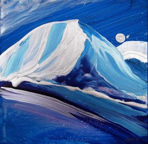 © Pam Van Londen 2010, Arctic 3, Acrylic on Clayboard, 8x8