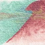 Intersections 3 original 7-x5-inch iridescent watercolor painting @ Pam Van Londen 2011