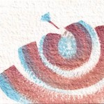 Om 10 original 7-x5-inch iridescent watercolor painting @ Pam Van Londen 2011